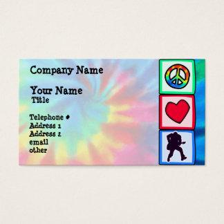 Peace, Love, Guitars Business Card