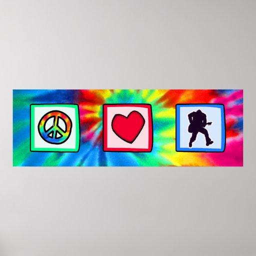 Peace, Love, Guitars Posters