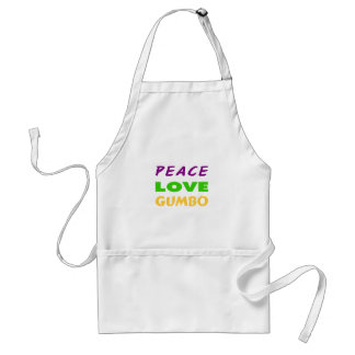 PEACE LOVE GUMBO ADULT APRON