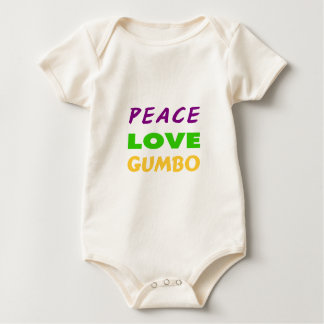 PEACE LOVE GUMBO BABY BODYSUIT
