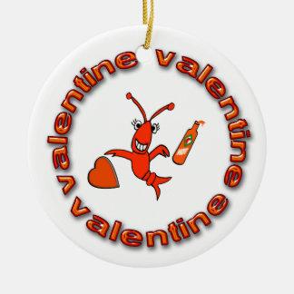Peace Love Gumbo/Fleur de Lis Crawfish Ornament