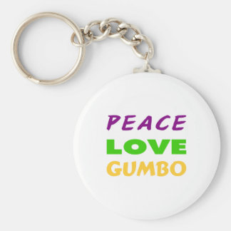 PEACE LOVE GUMBO KEYCHAIN