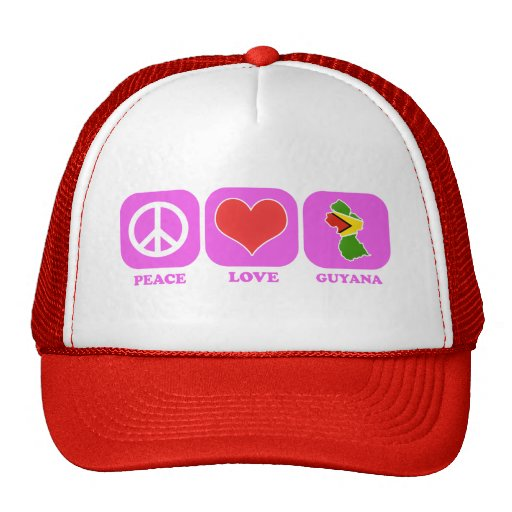 Peace Love Guyana Mesh Hat