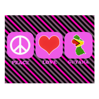 Peace Love Guyana Postcard