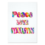"Peace Love Gymnastics 5"" X 7"" Invitation Card"