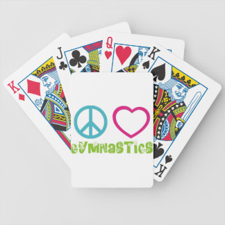 Peace Love Gymnastics Bicycle Playing Cards