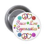 PEACE LOVE GYMNASTICS BUTTON