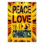 Peace Love Gymnastics Card