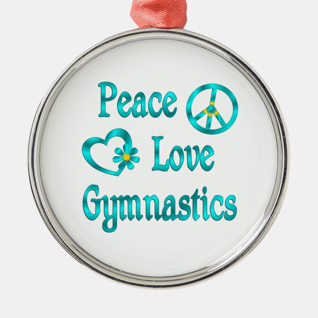 Peace Love Gymnastics Christmas Ornaments