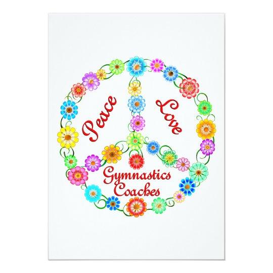 PEACE LOVE GYMNASTICS COACHES CARD