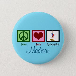 Peace Love Gymnastics Custom Cute Pinback Button