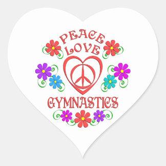 Peace Love Gymnastics Heart Sticker