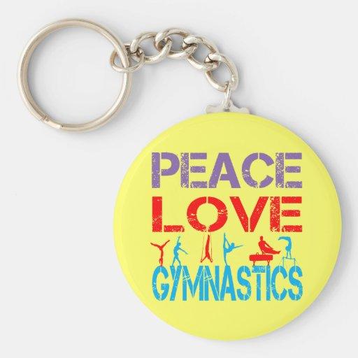 PEACE LOVE GYMNASTICS KEY CHAIN