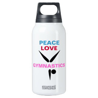 Peace Love Gymnastics Liberty (White) 10 Oz Insulated SIGG Thermos Water Bottle