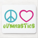 Peace Love Gymnastics Mouse Pad