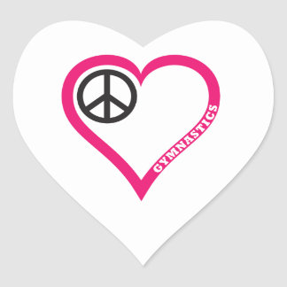 Peace Love Gymnastics Necklace Notebook Personaliz Heart Sticker