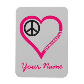 Peace Love Gymnastics Necklace Notebook Personaliz Magnet