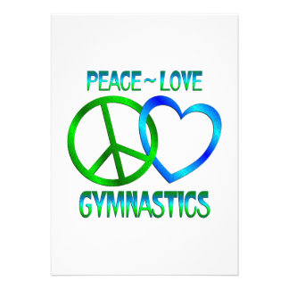 Peace Love GYMNASTICS Personalized Announcements