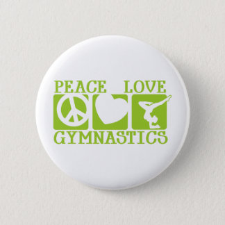 Peace Love Gymnastics Pinback Button