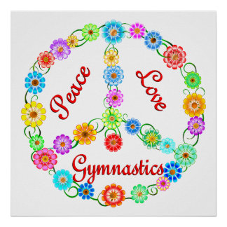 Peace Love Gymnastics Posters