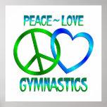 Peace Love GYMNASTICS Poster