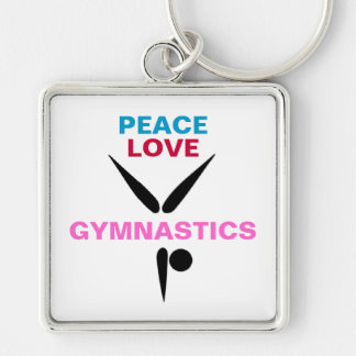 Peace Love Gymnastics Premium Keychain