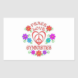 Peace Love Gymnastics Rectangular Sticker