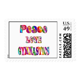 Peace Love Gymnastics Stamp