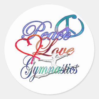 Peace, Love, Gymnastics Stickers