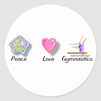 Peace Love Gymnastics Stickers