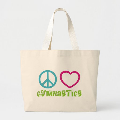 Peace Love Gymnastics Tote Bag