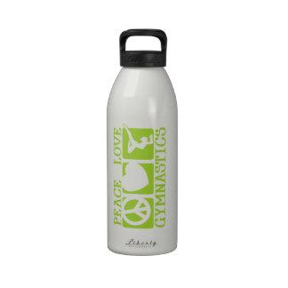 Peace Love Gymnastics Water Bottles