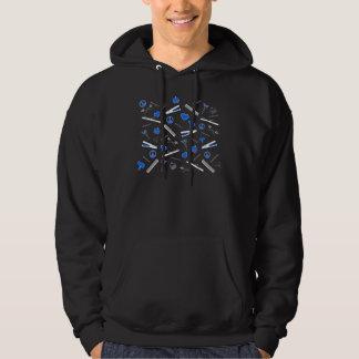 Peace, Love, & Hair Accessories (Bright Blue Dark) Hoodie