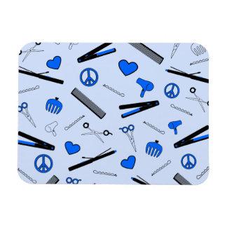 Peace, Love, & Hair Accessories (Bright Blue) Magnet