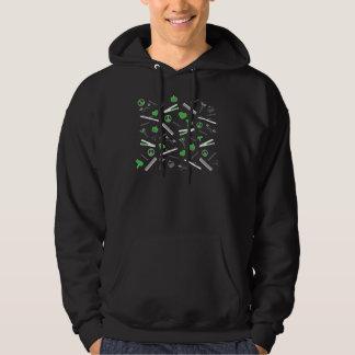 Peace, Love, & Hair Accessories (Green Dark) Hoodie