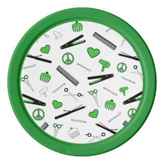 Peace, Love, & Hair Accessories (Green) Poker Chip Set