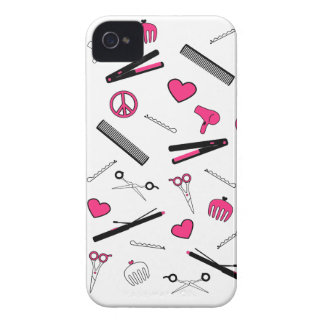 Peace, Love, & Hair Accessories (Pink) Case-Mate iPhone 4 Cases