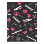 Peace, Love, & Hair Accessories (Pink Dark) Postcard