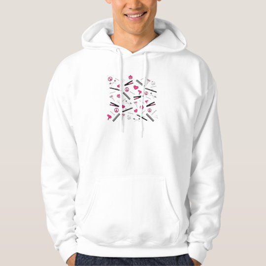 Peace, Love, & Hair Accessories (Pink) Hoodie
