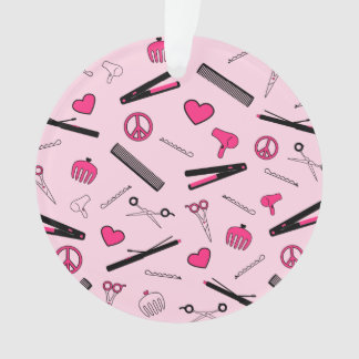 Peace, Love, & Hair Accessories (Pink) Ornament