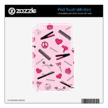 Peace, Love, & Hair Accessories (Pink) Skin For iPod Touch 4G