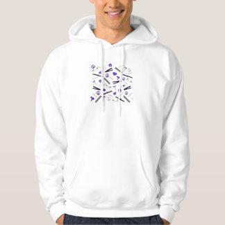 Peace, Love, & Hair Accessories (Purple) Hoodie