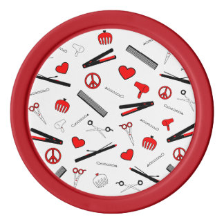 Peace, Love, & Hair Accessories (Red) Poker Chips