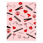 Peace, Love, & Hair Accessories (Red) Post Card