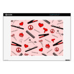 Peace, Love, & Hair Accessories (Red) Laptop Decals
