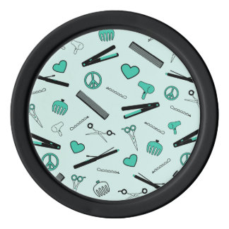 Peace, Love, & Hair Accessories (Turquoise) Poker Chips