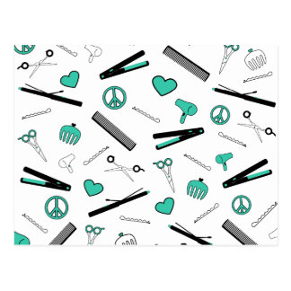 Peace, Love, & Hair Accessories (Turquoise) Postcard