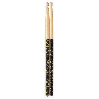 Peace, Love, & Hair Accessories (Yellow Dark) Drum Sticks