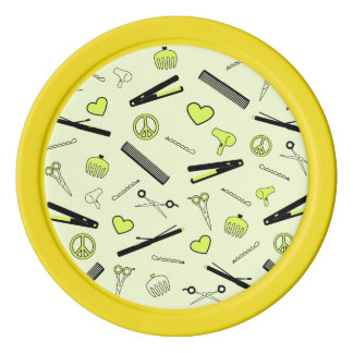 Peace, Love, & Hair Accessories (Yellow) Poker Chips