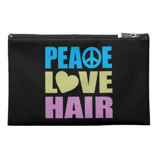 Peace Love Hair Travel Accessory Bags